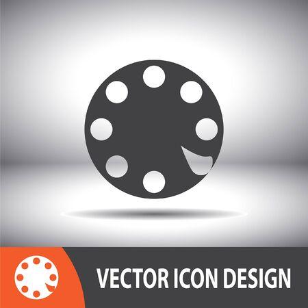 rotative: Rotary t�l�phone avec ligne  Illustration