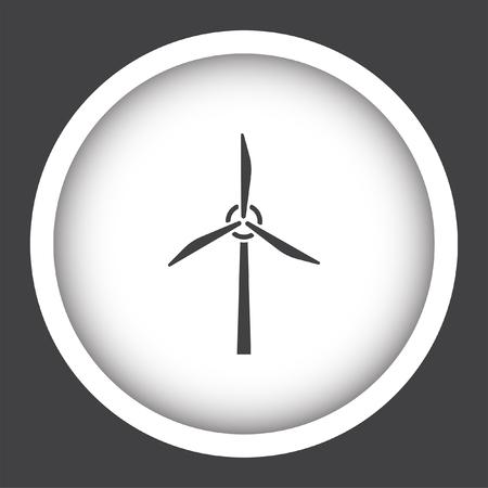 wind generator: wind generator vector icon