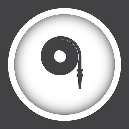 hose: fire hose vector icon Illustration