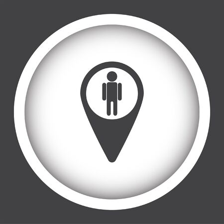 street view: map pin street view vector icon