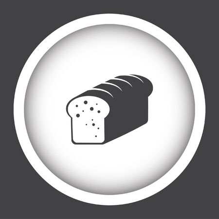 toasted: toast bread vector icon
