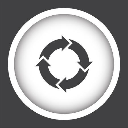 arrow icon: circular arrow sign icon