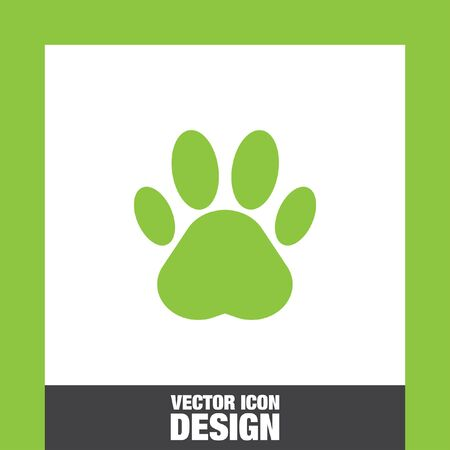 dog track: paw vector icon
