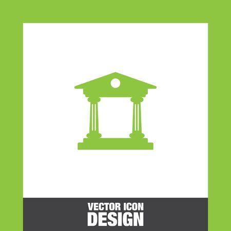 roman column: Institution vector icon