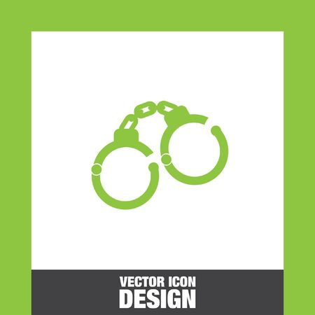 convict: handcuffs vector icon Illustration