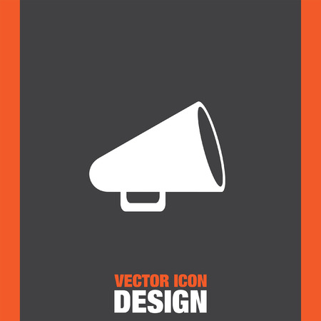 announcement icon: megaphone vector icon