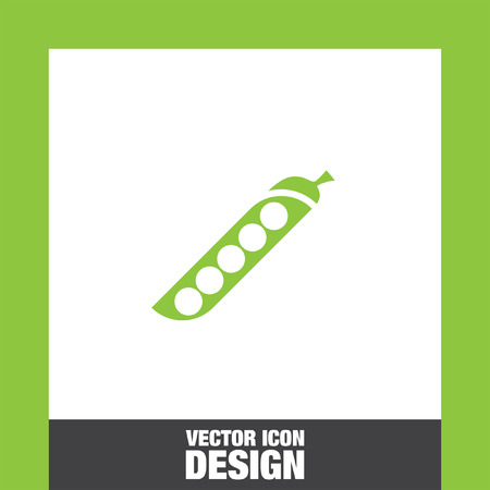 soy bean: green beans vector icon