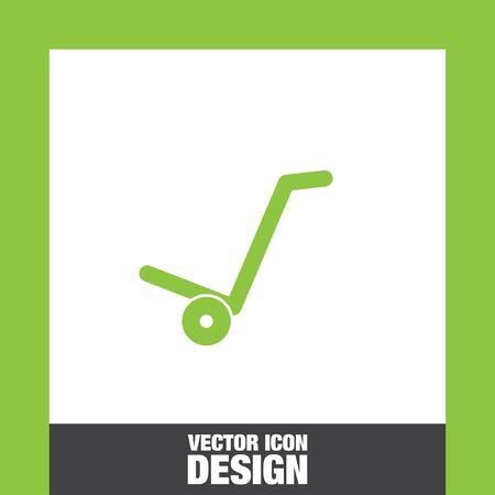 relocate: manual cart vector icon