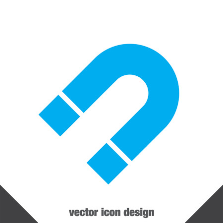 polarity: magnet vector icon Illustration