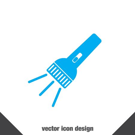 taschenlampe: Taschenlampe Vektor-Icon- Illustration