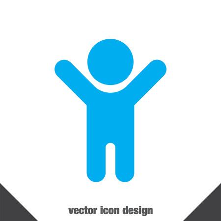 kinderen: kind vector icon Stock Illustratie