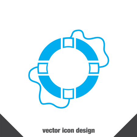 lifebelt: lifebuoy vector icon
