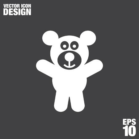 teddy bear vector: teddy bear vector icon Illustration