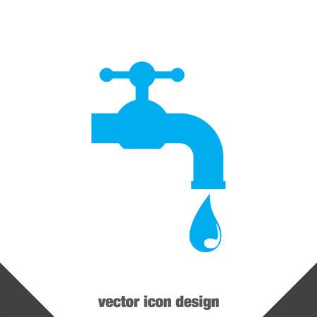 lavarse las manos: icono de vector grifo