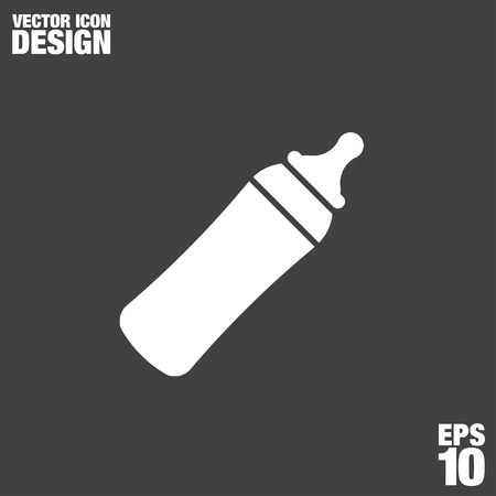 drink milk: baby bottle vector icon