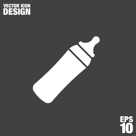botella: bebé icono de la botella de vectores