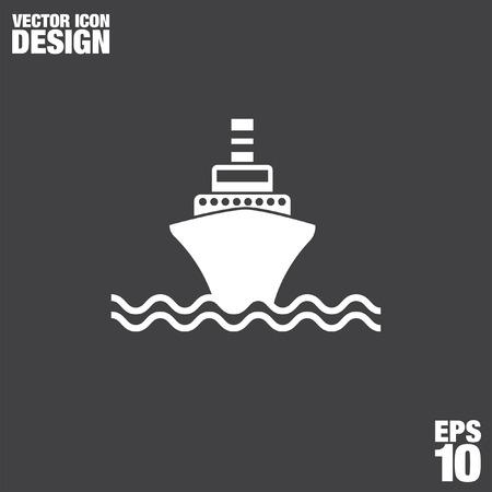 marine ship: ship vector icon