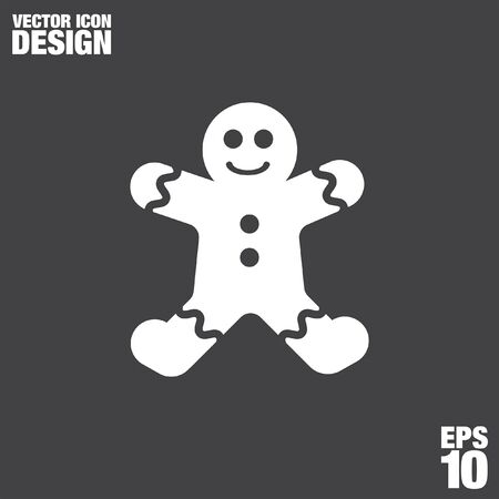gingerbread person: gingerbread vector icon Illustration