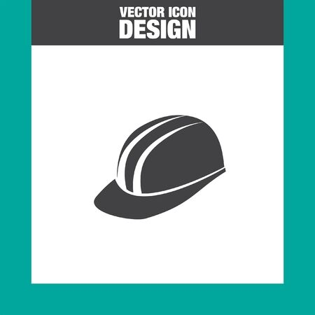 industrial safety: protective helmet vector icon Illustration