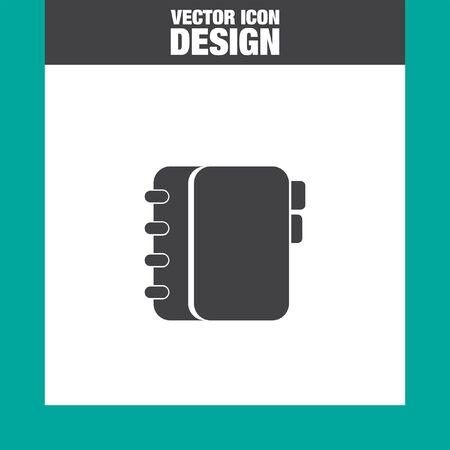 personal organizer: personal organizer vector icon