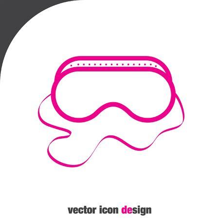Sicherheitsarbeit Gläser Vektor-Icon-