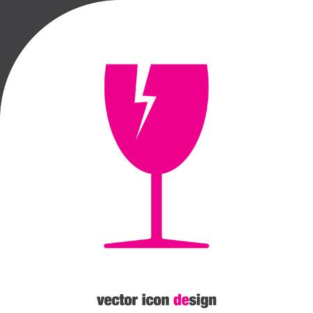 fragile transport vector icon
