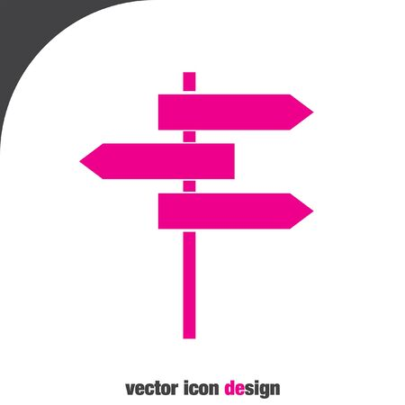 roadsign: roadsign vector icon Illustration
