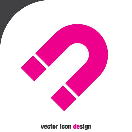 magnetism: magnet vector icon Illustration