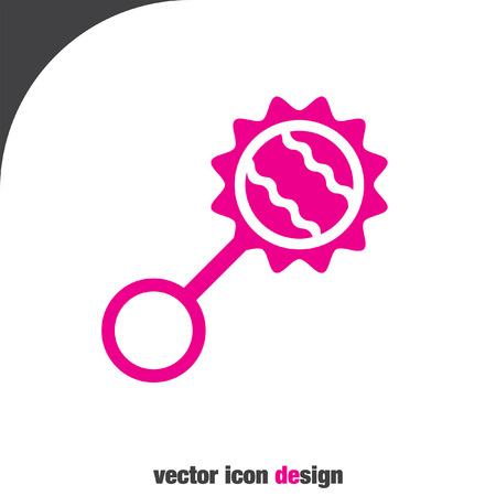rattle: baby rattle vector icon