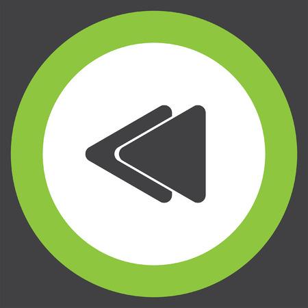 backward: fast backward button vector icon