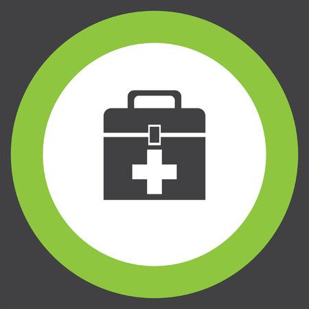 first aid box: first aid box Vectores