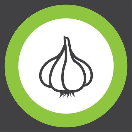 garlic vector icon