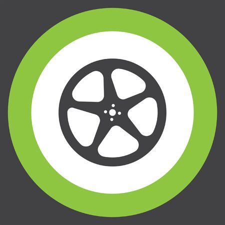 negativity: movie video film reel vector icon