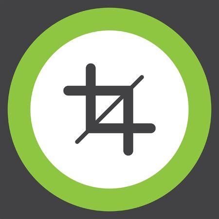 crop: crop sign vector icon Illustration