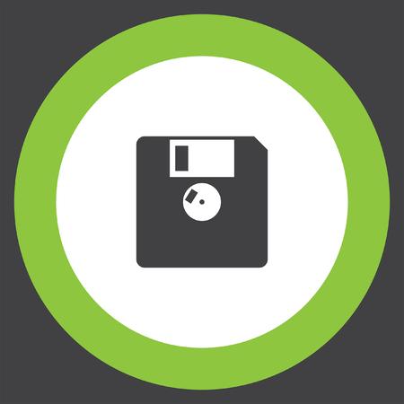 diskette: diskette vector icon Illustration