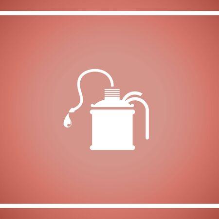 oiler: oil can vector icon