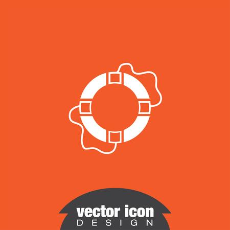 safety buoy: lifebuoy vector icon