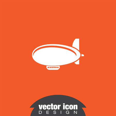 luftschiff: airship zeppelin vector icon Illustration