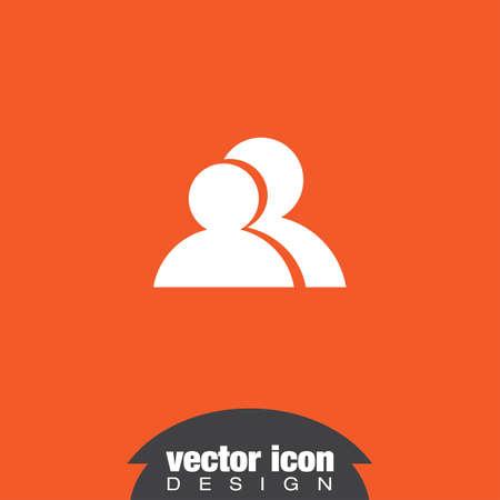 duas pessoas: duas pessoas ícone vector Ilustração