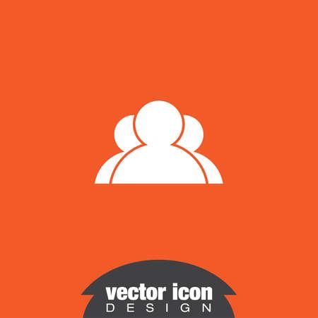 three people vector icon logo