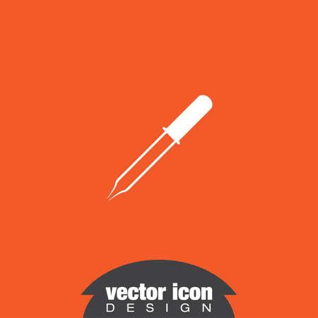 eyedropper: pipette vector icon