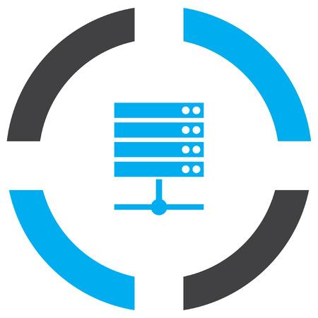 data server vector icon