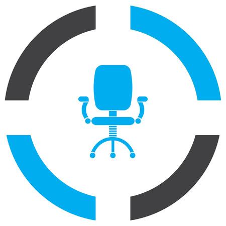 chaise de bureau vecteur icône Vecteurs