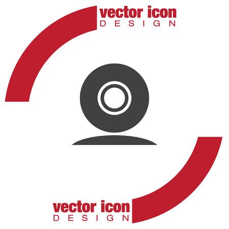 web cam vector icon Vektorové ilustrace