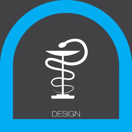 pharmacy symbol: pharmacy snake symbol icon Illustration