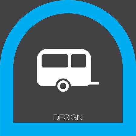 trailer: camping trailer icon