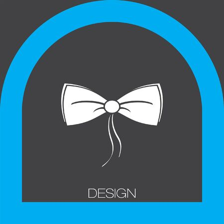 neck wear: bow tie icon Illustration