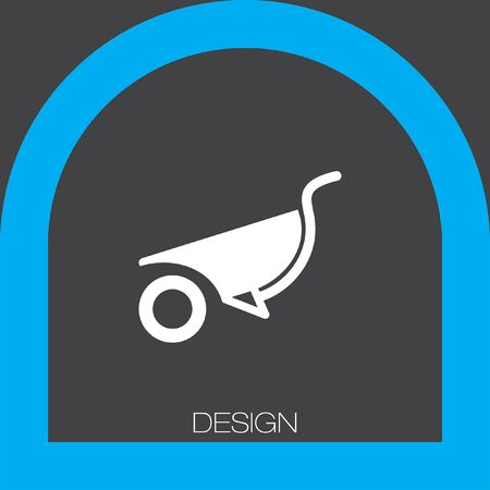 wheelbarrow: wheelbarrow icon Illustration