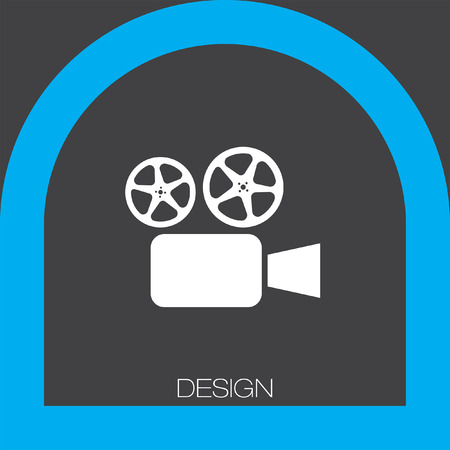tripod projector: cinema movie camera icon