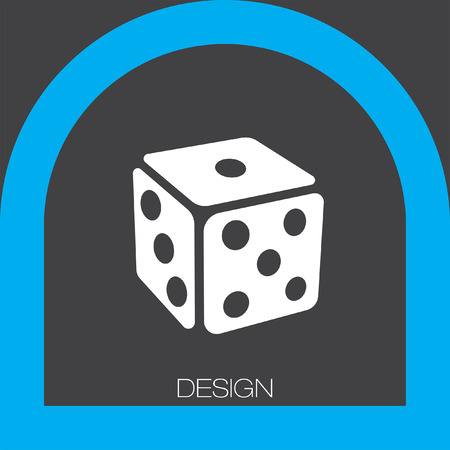 chances: gambling dice icon Illustration